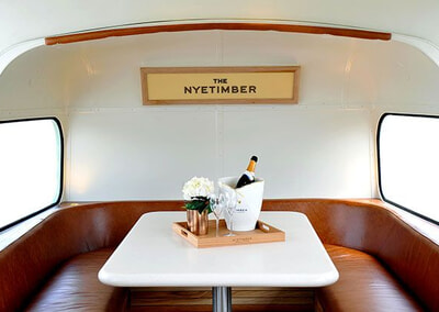 Passengers can relax and enjoy a glass of England's finest sparkling wine in luxurious comfort